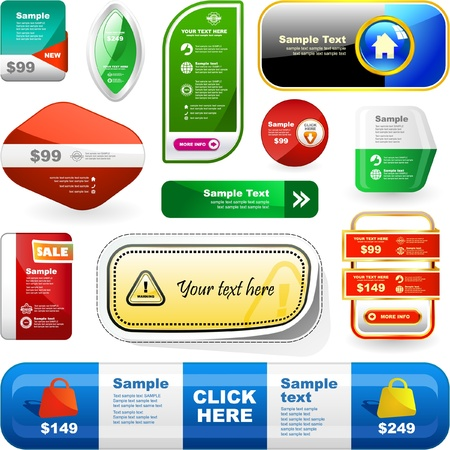 bargain price: Various sale design elements. Great collection.