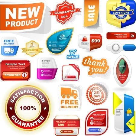 set of sale design elements Stock Vector - 9498016