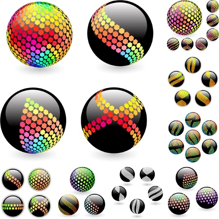 Abstract sphere. Great collection. Vector