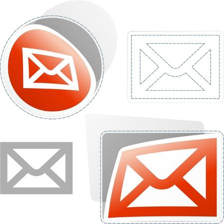 E-mail. Sticker set for design. Vector