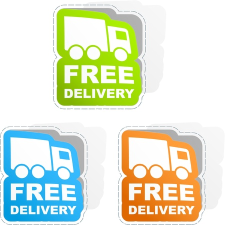 Free delivery element set for sale     Vector
