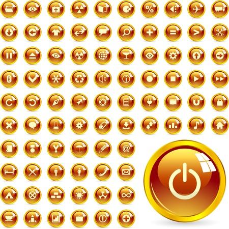 mail man: Icono hermoso conjunto de vectores