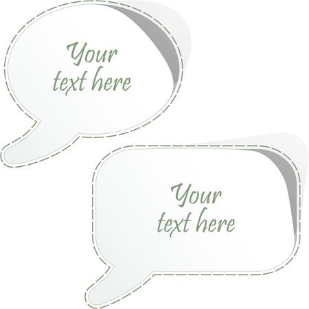 Vector speech bubble. Vector set. Stock Vector - 8890959
