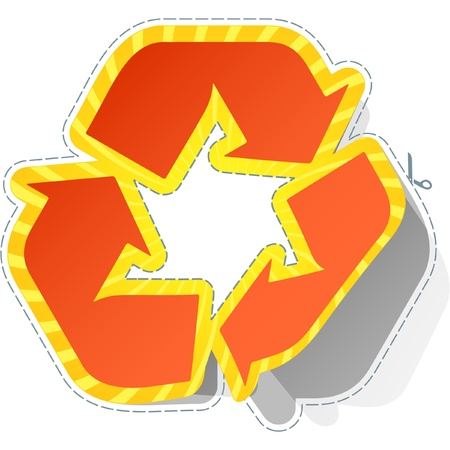 Recycle symbol. Sticker. Stock Vector - 8890991