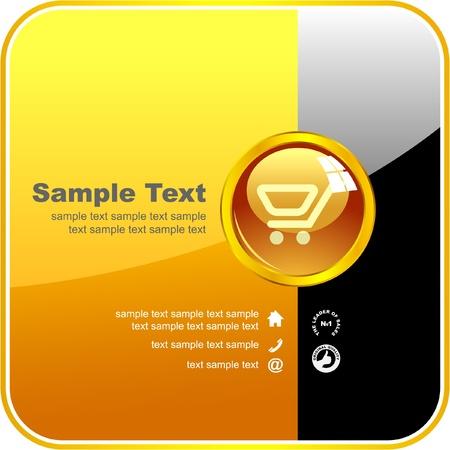 Shopping cart. Vector banner. Stock Vector - 8891282