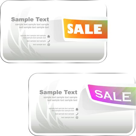 Banner set for sale. Stock Vector - 9034074