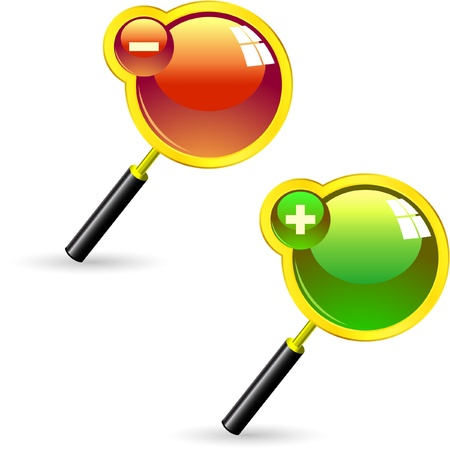 Magnifying glass. Stock Vector - 8890920