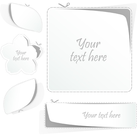 Sticker set. Stock Vector - 9142387