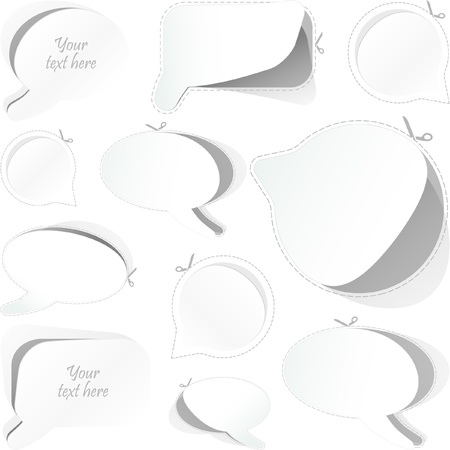 Speech bubble sticker set. Stock Vector - 8891222