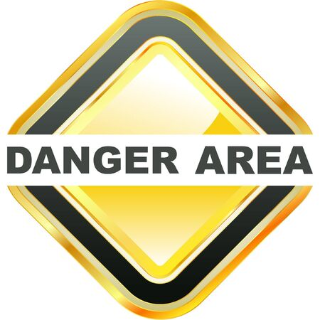 ejaculation: DANGER AREA. Vector illustration,