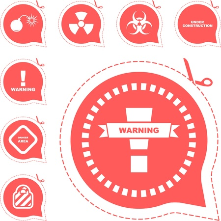 Warning vector signs. Stock Vector - 8891293
