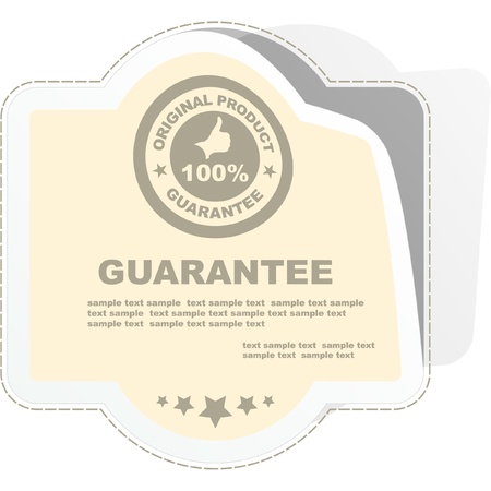 procent: Vector guarantee sticker