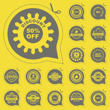 first form: Vector collection of sale signs    Illustration