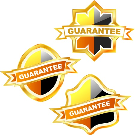Guarantee lsbels. Stock Vector - 8890992
