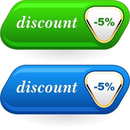 Discount button. Stock Vector - 8890964