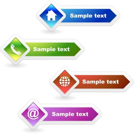mobil: Contact-element ingesteld voor design.