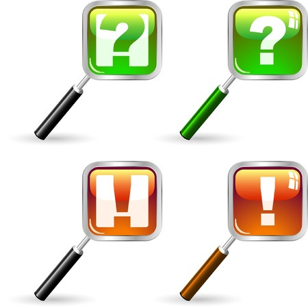 questionably: Exclamation and question vector elements.