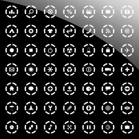 torrent: Vector beautiful icon set   Illustration