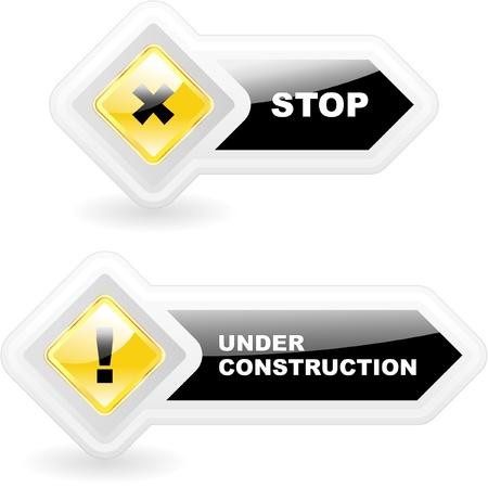 Warning vector icon. Vector template.    Vector
