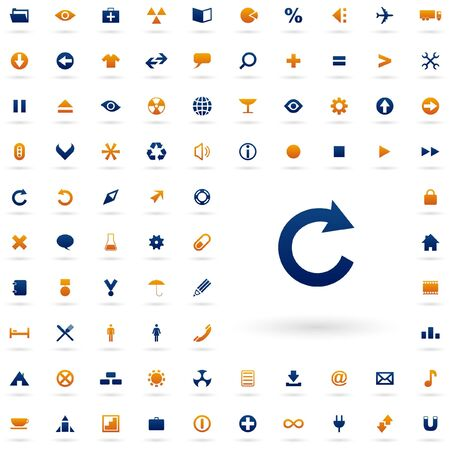 moving site: Vector beautiful icon set   Illustration