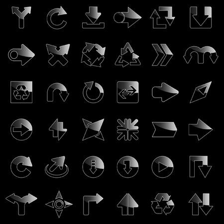 Set of arrows. Vector illustration.    Vector