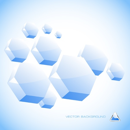 freeze: Abstract hexagon background.   Illustration