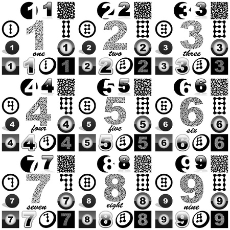 NUMBERS. Great collection. Vector