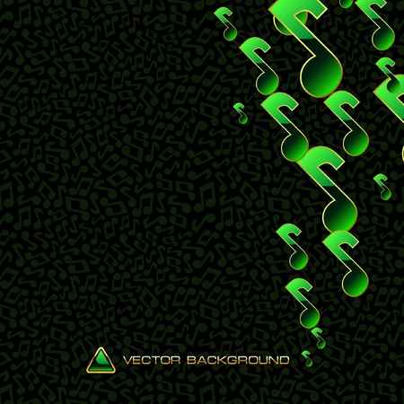 gamut: Vector abstract background with note mix.   Illustration