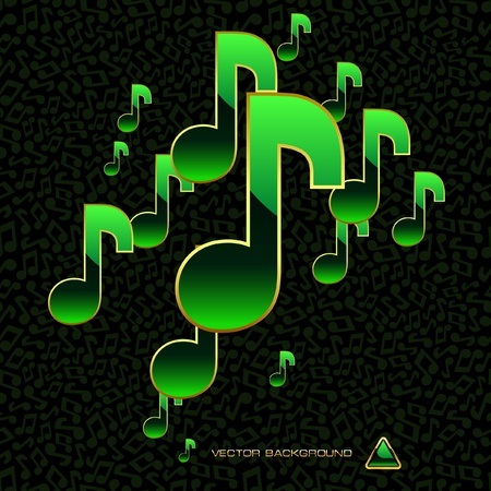 melodist: Vector abstract background with note mix.   Illustration