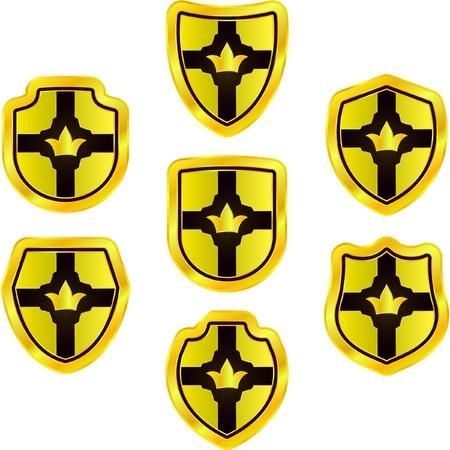 Vector set of heraldic symbols    Vector