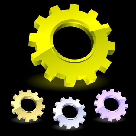 Gear icon set.    Stock Vector - 8891226