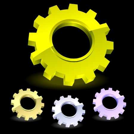 Gear icon set.    Vector