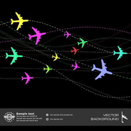 jetliner: Abstract background with airplane lines.