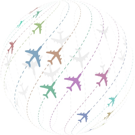 Plane. Vector illustration.   Vector