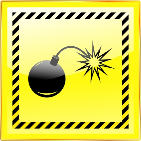 detonating: Bomb. Vector illustration. Illustration