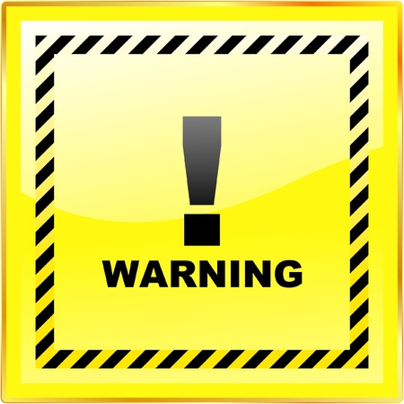 hazardous area sign: Signo de advertencia de vector. Plantilla de vector.    Vectores