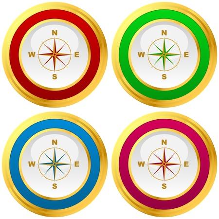 Vector compass. Graphic elements set.    Vector