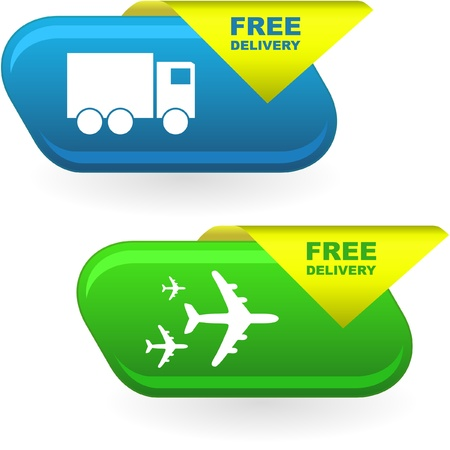 Free delivery elements for sale   Stock Vector - 8890851