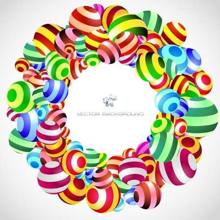 rounded circular: Abstract background with circle elements.   Illustration