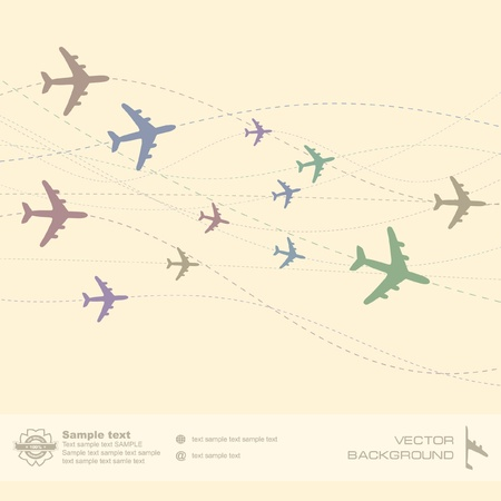 Plane. Abstract illustration. Vector