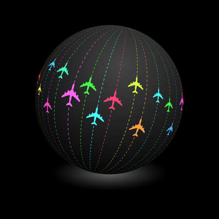 commercial airline: Plane. Abstract illustration. Illustration