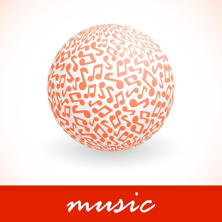 melodist: Music. Abstract illustration.