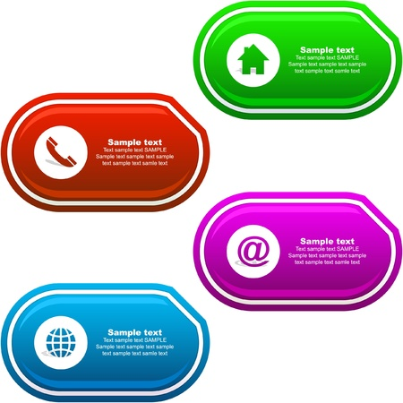 web address: Contact. Vector template.