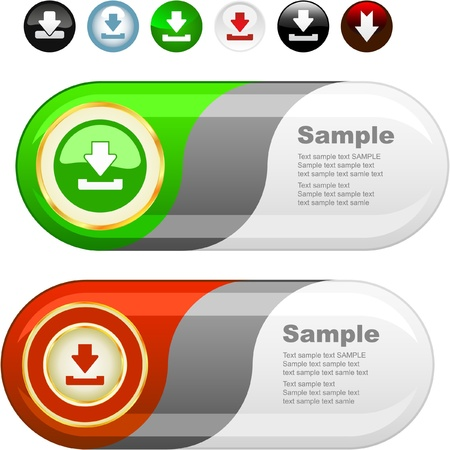 Download buttons set. Stock Vector - 8891224