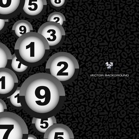 mathematical: Numbers. Abstract background.