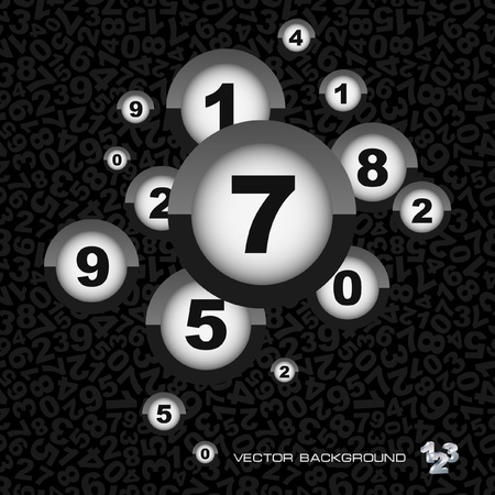 Abstract background with numbers. Stock Vector - 8891183