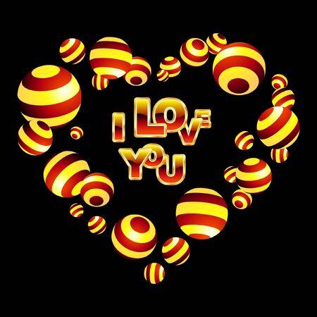 beloved: I love you. Love message.    Illustration