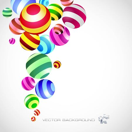 conceptual symbol: Abstract background with circle elements.   Illustration