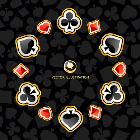 suite: Vector gambling composition. Abstract background.
