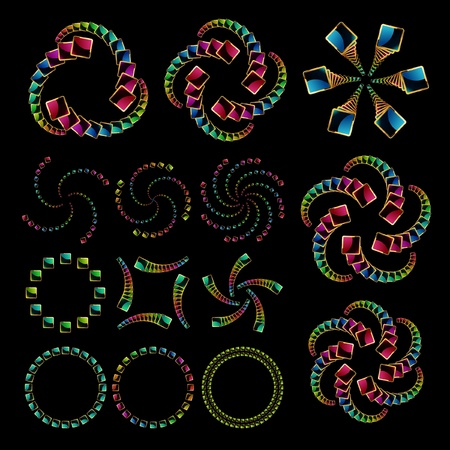Rainbow design elements   Vector